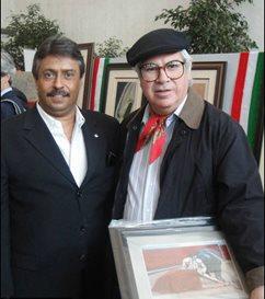 Con Arturo López Negrete Bardo de la Taurina