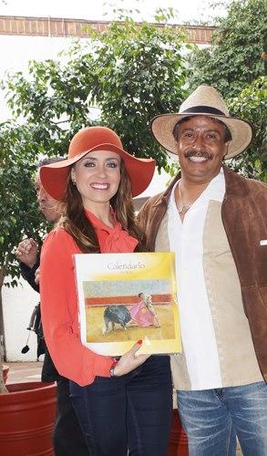 Con Carmen Muñoz Primer calendario