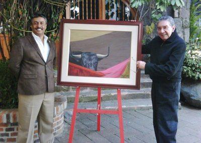 Con Don Marco Antonio Muñiz