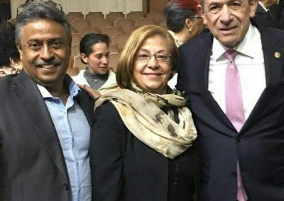 Con Enrique Fernández Fassnatch IPN y Amada Paredones