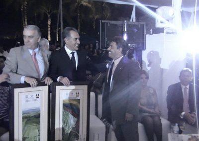Con Gobernador Marco Adame Castillo y embajador de Colombia