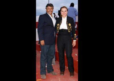 Con Karla Sánchez.