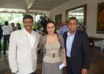 Con Luisa Fernanda Mejido y Mauricio Álvarez