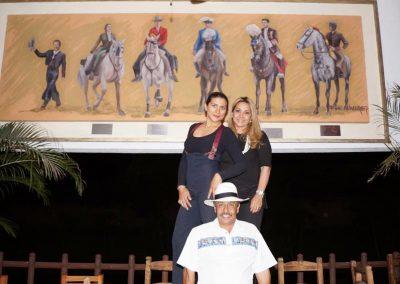 Con Lupita López y Lilia Abarca.