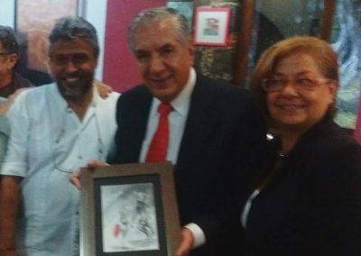 Con Maestro René Avilés Fabila y Amada Paredones