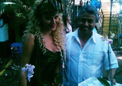 Con Malillany Marín