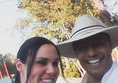 Con Monica Serrano