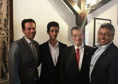 Con Rafael y Carlos Loret