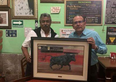 Con el ganadero José Antonio Gonzalez Esnaurrizar