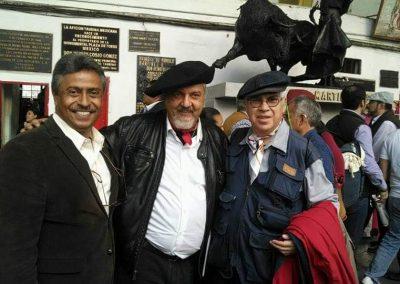 Con los Maetros Rafael Sánchez de Icaza y Bardo de la Taurina